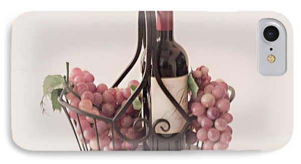 Basket Of Wine And Grapes IPhone Case by Sherry Hallemeier