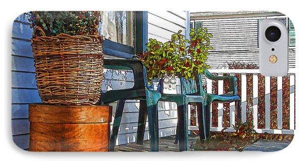 IPhone Case featuring the photograph Basket Porch by Betsy Zimmerli