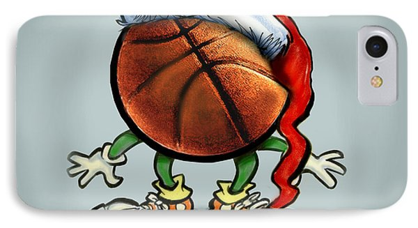 Basketball Christmas Phone Case by Kevin Middleton