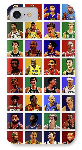 Larry Bird iPhone 7 Case - Basketball Legends by Semih Yurdabak
