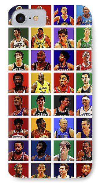 Basketball Legends IPhone Case by Semih Yurdabak