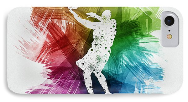 Basketball Player Art 01 IPhone Case by Aged Pixel