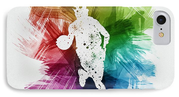 Basketball Player Art 02 IPhone Case
