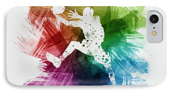 Basketball Player Art 04 IPhone Case by Aged Pixel