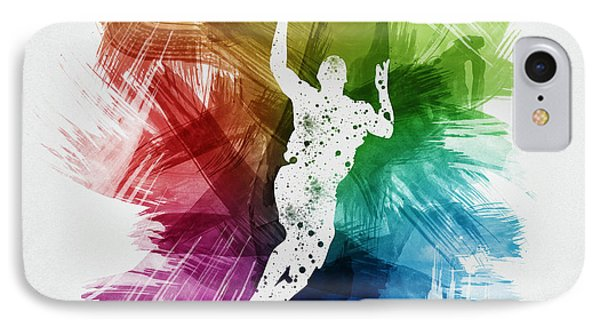 Basketball Player Art 05 IPhone Case by Aged Pixel
