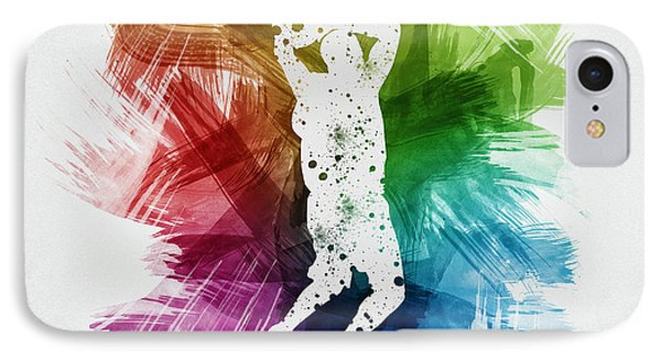 Basketball Player Art 07 IPhone Case by Aged Pixel