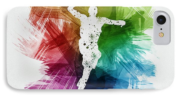 Basketball Player Art 09 IPhone Case by Aged Pixel