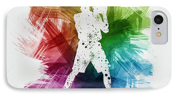 Basketball Player Art 13 IPhone Case by Aged Pixel