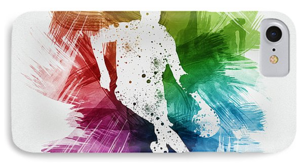 Basketball Player Art 15 IPhone Case by Aged Pixel