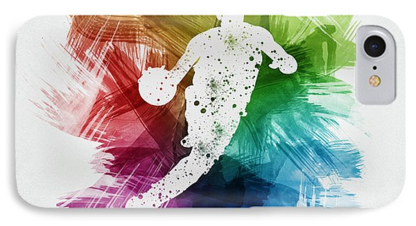 Basketball Player Art 20 IPhone Case by Aged Pixel