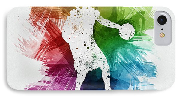 Basketball Player Art 21 IPhone Case by Aged Pixel