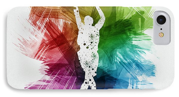 Basketball Player Art 22 IPhone Case by Aged Pixel