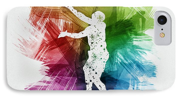 Basketball Player Art 23 IPhone Case by Aged Pixel