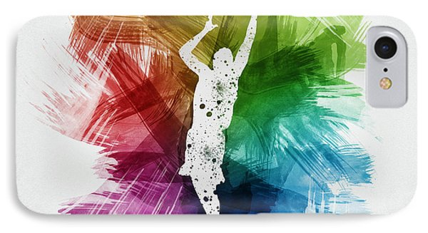 Basketball Player Art 24 IPhone Case by Aged Pixel