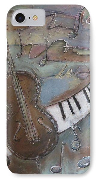 Bass And  Keys IPhone Case by Anita Burgermeister