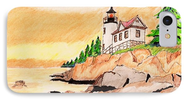 Bass Harbor Head Lighthouse IPhone Case by Paul Meinerth