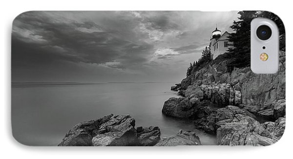 Bass Harbor Mood - B/w IPhone Case by Michael Blanchette