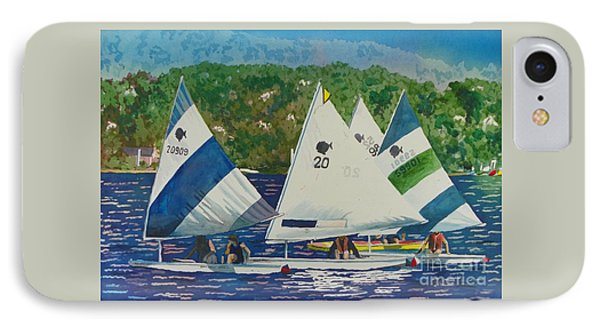 Bass Lake Races  IPhone Case by LeAnne Sowa