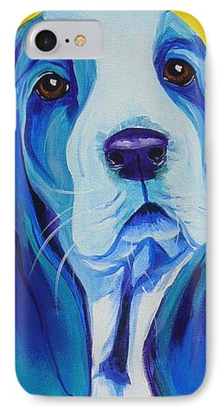 Basset - Ol' Blue IPhone Case by Alicia VanNoy Call