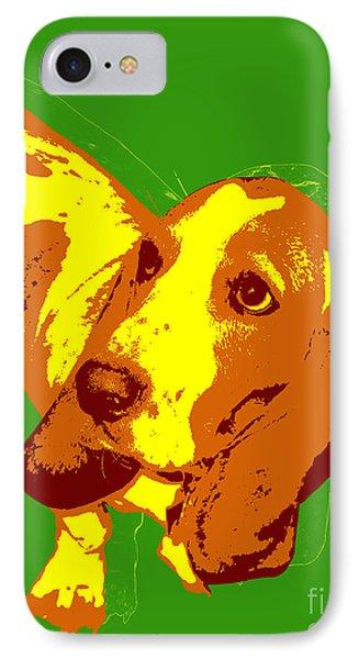 Basset Hound Pop Art IPhone Case