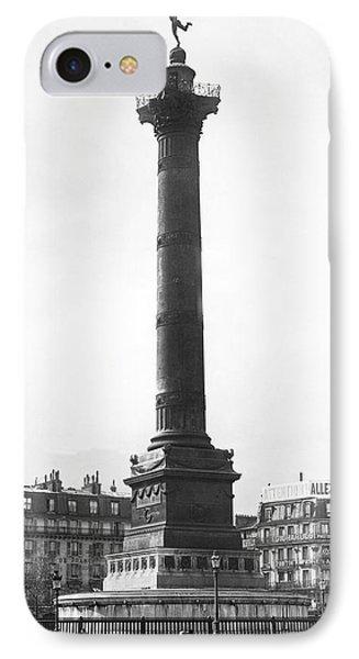 Bastille Monument In Paris IPhone Case by Underwood Archives