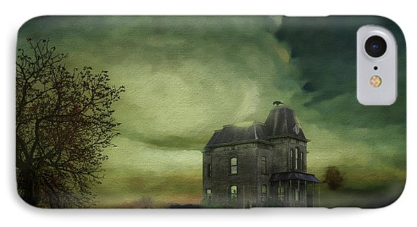 IPhone Case featuring the mixed media Bates Residence by Jim  Hatch