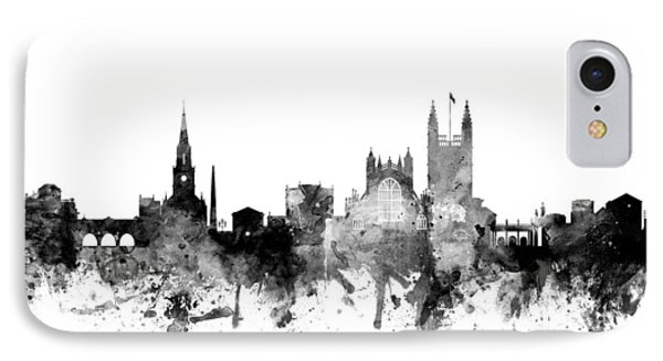 Bath England Skyline Cityscape IPhone Case by Michael Tompsett