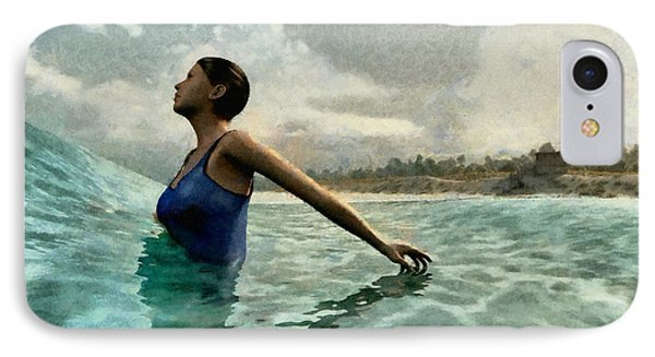 Bather Painted IPhone Case by Cynthia Decker