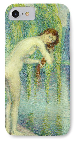 Bather Washing Her Hair IPhone Case