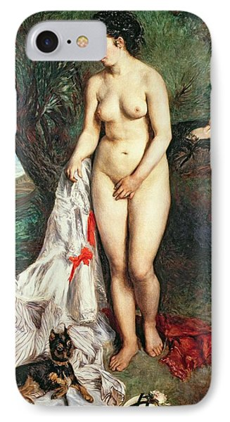 Bather With A Griffon Dog IPhone 7 Case by Pierrre Auguste Renoir