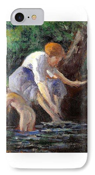 Bathing Phone Case by Maximilien Luce