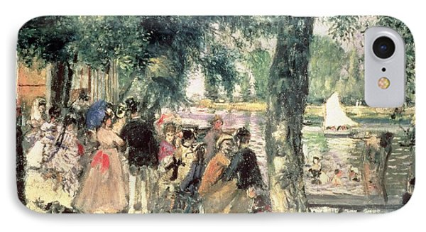 Bathing On The Seine Or La Grenouillere IPhone Case by Pierre Auguste Renoir