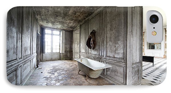 Bathroom Decay - Urban Exploration IPhone Case by Dirk Ercken