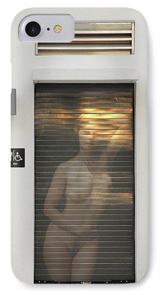 Bathroom Door Nude IPhone Case by Harry Spitz