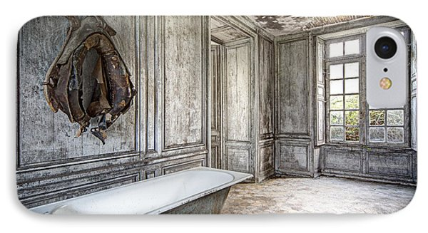 Bathroom In Decay - Abandoned Building IPhone Case by Dirk Ercken