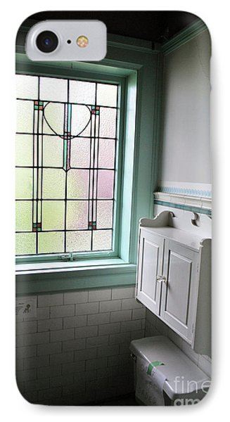 IPhone Case featuring the photograph Vintage Bathroom Window by Bill Thomson