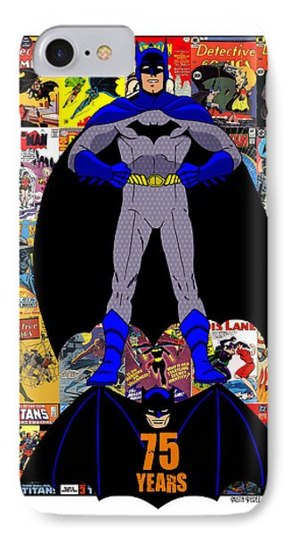 Batman 75 IPhone Case by Mista Perez Cartoon Art