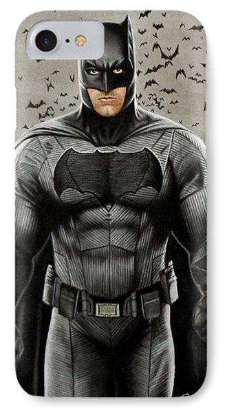 Batman Ben Affleck IPhone 7 Case by David Dias