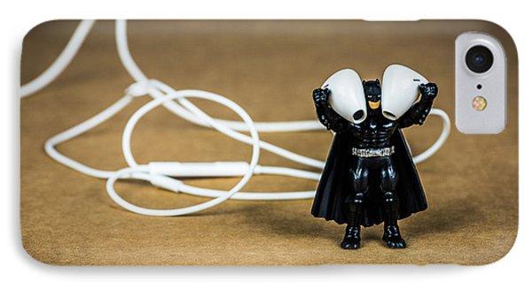 Batman Likes Music Too IPhone Case