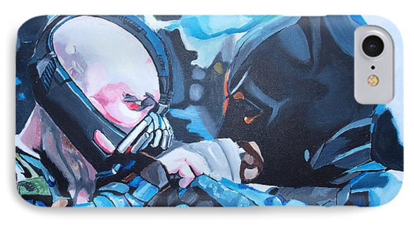 Batman Vs Bane Phone Case by Martin Putsey