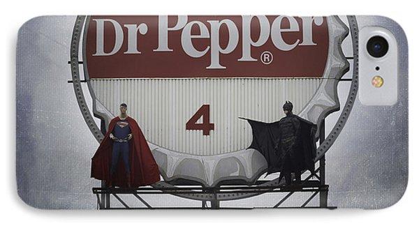 Batman Vs Superman 06 IPhone Case by Teresa Mucha
