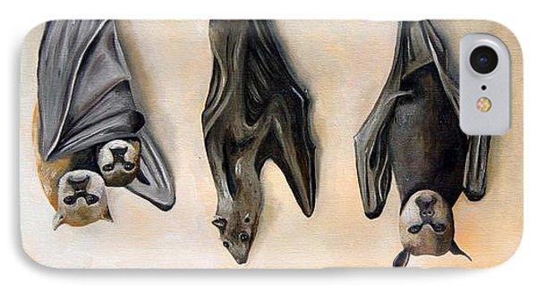 Bats Phone Case by Leah Saulnier The Painting Maniac