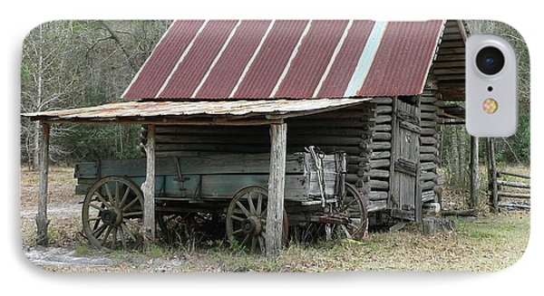 Battered Barn And Weathered Wagon Phone Case by Al Powell Photography USA