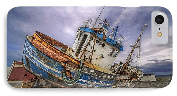 IPhone Case featuring the photograph Battered Boat by Roman Kurywczak