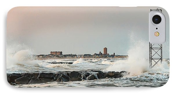 Battering The Shark River Inlet IPhone Case