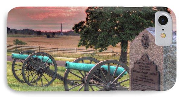 Battery F Cannon Gettysburg Battlefield IPhone Case by Randy Steele