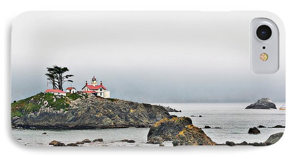 Battery Point Lighthouse California Phone Case by Christine Till