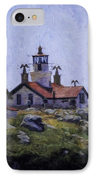 Battery Point Lighthouse Crescent City California IPhone Case