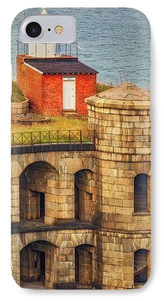 IPhone Case featuring the photograph Battery Weed At Fort Wadsworth Nyc by Susan Candelario