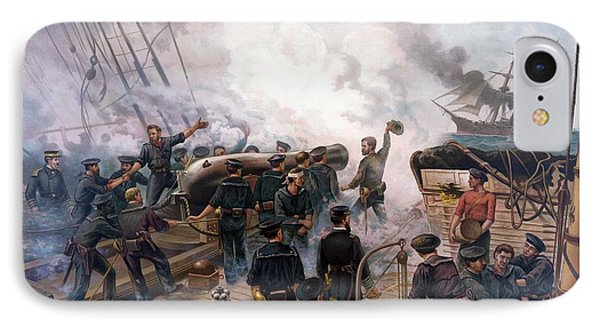 Battle Between Kearsarge And Alabama Phone Case by War Is Hell Store